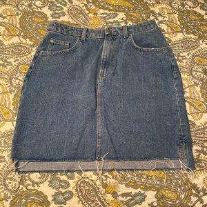 H&M Denim High Waist Skirt - Size 8